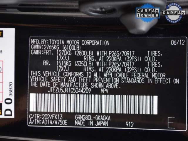 2012 Toyota 4Runner  4D Sport Utility  - 044209 - Image #9