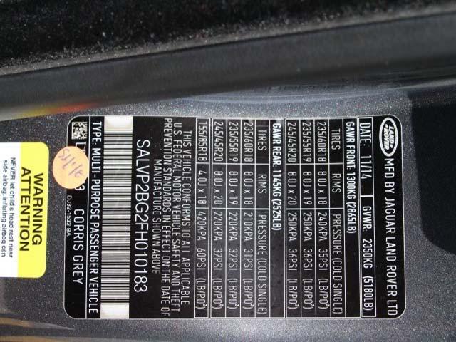 2015 Land Rover Range Rover Evoque 4D Sport Utility - 010183 - Image #9
