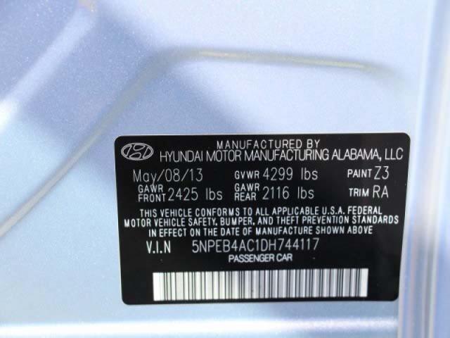 2013 Hyundai Sonata  4D Sedan  - 131144 - Image #9